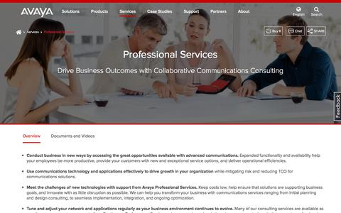 Professional Services - Communications Consulting Services – Avaya