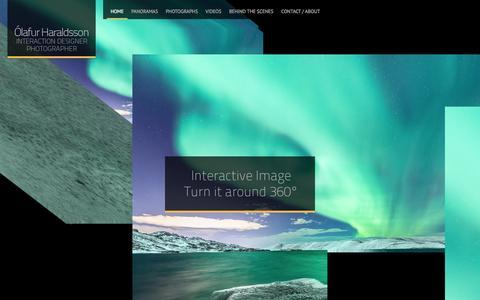 Screenshot of Home Page olihar.com - OliHar.com - captured Oct. 9, 2014