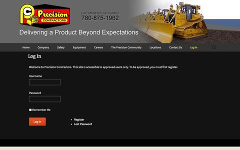Screenshot of Login Page gridserver.com - Log In | Precision Contractors - captured Sept. 18, 2014