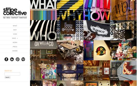 Screenshot of Home Page thestripecollective.com - The Stripe Collective   living. breathing. brands. - captured Oct. 6, 2014