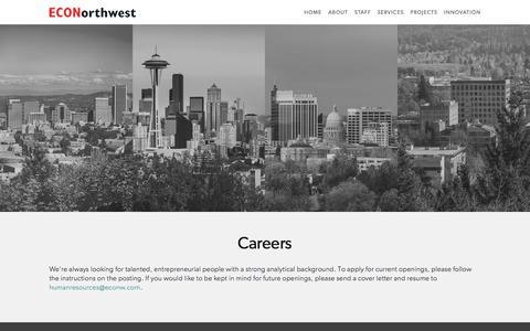 Careers Page — ECONorthwest