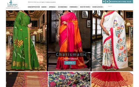 Screenshot of Home Page luxurionworld.com - Online Indian sarees | Shop online India | Luxurion world - captured Nov. 13, 2015