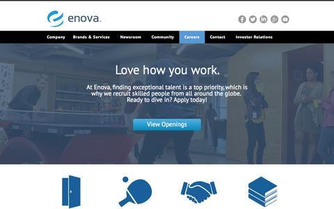 Screenshot of Jobs Page enova.com - Careers - Enova - captured Oct. 1, 2015