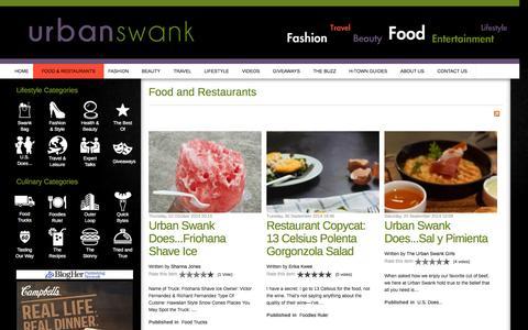 Screenshot of Blog urbanswankblog.com - Urban Swank | Houston Food Blog - captured Oct. 9, 2014