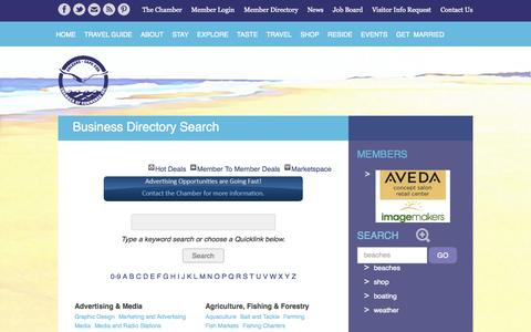 Screenshot of Services Page orleanscapecod.org - Business Directory Search - Orleans Chamber of Commerce - captured Oct. 6, 2014