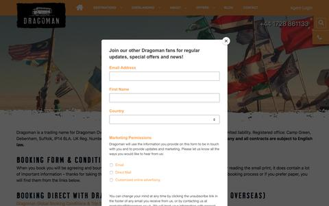 Screenshot of Terms Page dragoman.com - Booking Terms and Conditions - Dragoman Overland - captured Aug. 8, 2018