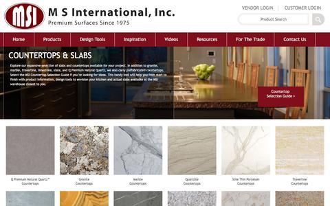 Screenshot of msistone.com - Countertops - Prefabricated, Semi Precious & Natural Stone Countertops - captured March 19, 2016