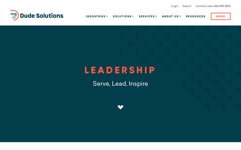Dude Solutions - Operations Management Software > About Us > Leadership