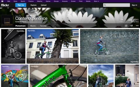 Screenshot of Flickr Page flickr.com - Flickr: ContentXperience's Photostream - captured Oct. 22, 2014