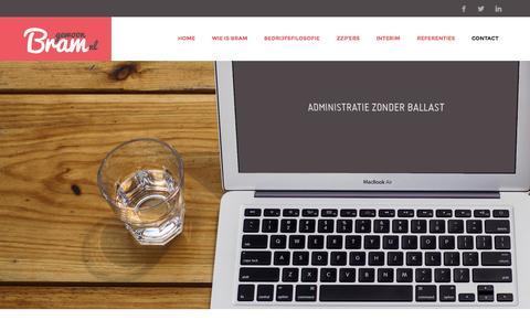 Screenshot of Home Page gewoonbram.nl - Gewoon Bram | Administratie specifiek voor jouw bedrijf – aalsmeer - captured Sept. 29, 2014