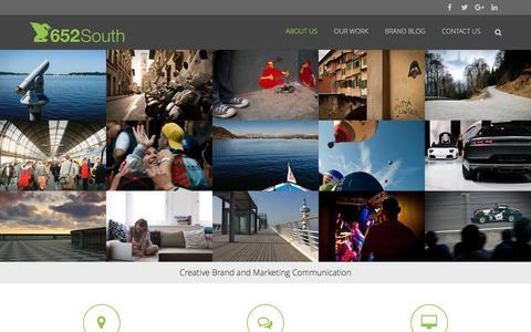 Screenshot of Home Page 652south.com - Creative Brand and Marketing Communication - captured Feb. 27, 2016