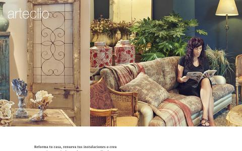 Screenshot of Home Page arteclio.com - Arteclío Interiorismo   Reformas con alma - captured Nov. 13, 2018