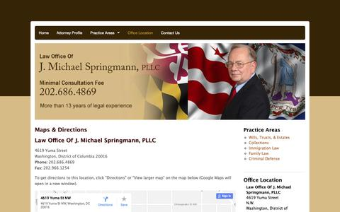 Screenshot of Maps & Directions Page springmannslaw.com - Washington Law Firm, Maps & Directions - captured Sept. 27, 2018