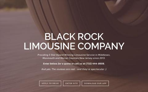 Screenshot of Home Page blackrocklimonj.com - Black Rock Limo - captured Feb. 7, 2016