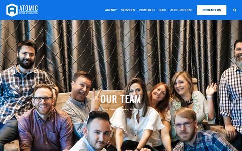 Screenshot of Team Page atomicdc.com - Design/Development Team - Dallas Internet Marketing Agency | Atomic DC - captured Oct. 4, 2018