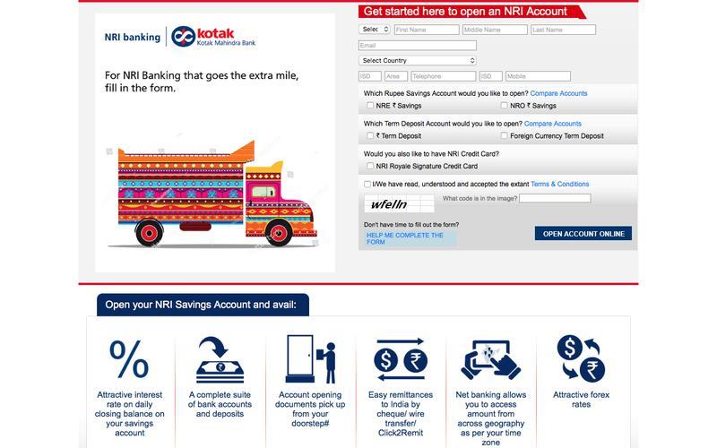 Open a NRE/NRO Savings Account in India: NRI Banking with Kotak Mahindra Bank