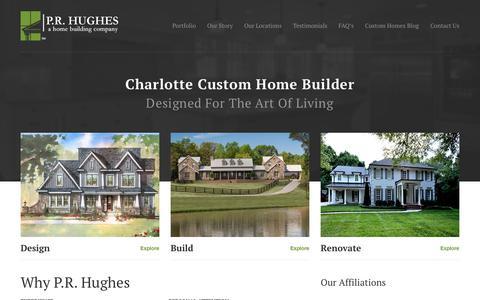 Screenshot of Home Page prhughesllc.com - Charlotte Custom Home Builder, P.R. Hughes - captured Jan. 20, 2018