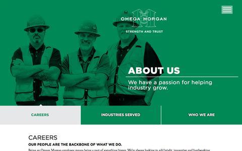 Screenshot of Jobs Page omegamorgan.com - Careers at Omega Morgan - captured July 12, 2018