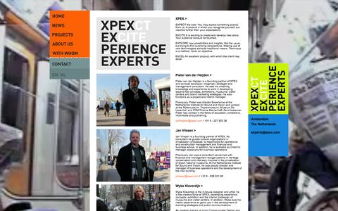 Screenshot of About Page xpex.com - About us - captured Oct. 4, 2014