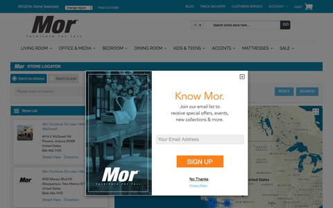 Screenshot of Locations Page morfurniture.com - Mor Furniture for Less Store Locator | Mor Furniture for Less - captured Oct. 21, 2017