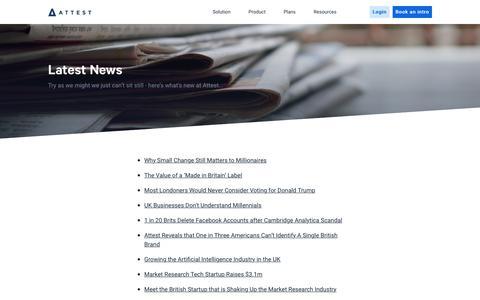 Screenshot of Press Page askattest.com - Press   Attest - captured Nov. 20, 2019