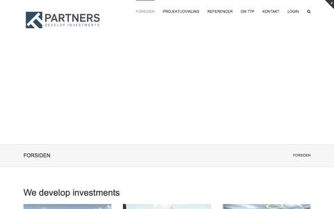 Screenshot of Home Page ttpartners.dk - TTPARTNERS - We develop investments - captured Aug. 16, 2015