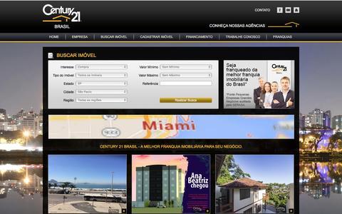 Screenshot of Home Page c21.com.br - CENTURY 21 Brasil - A melhor Franquia Imobiliária para seu negócio - captured April 21, 2016