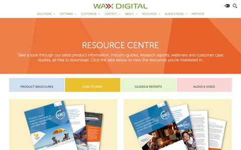 Screenshot of Case Studies Page waxdigital.com - Case Studies | web3 | eSourcing | Source to Pay | Wax Digital - captured April 4, 2017