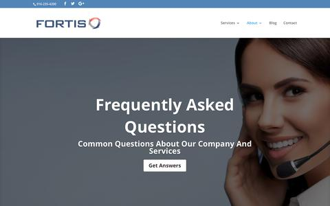 Screenshot of FAQ Page fortistelecom.net - Frequently Asked Questions | Fortis - captured June 6, 2017