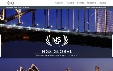 Screenshot of Home Page ngs-global.com - NGS Global - NGS Global - captured Feb. 17, 2016