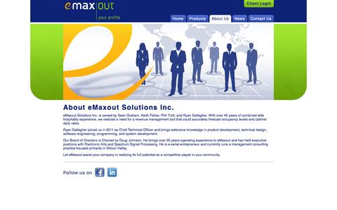 Screenshot of About Page emaxout.com - eMaxout Solutions Inc. - About - captured Sept. 30, 2014