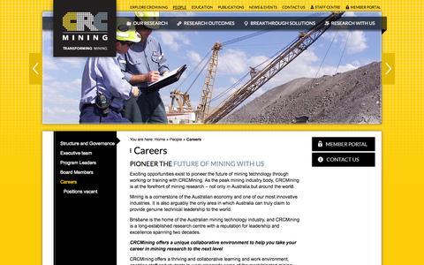 Screenshot of Jobs Page crcmining.com.au - Careers | CRC Mining | CRC Mining - captured Sept. 26, 2014