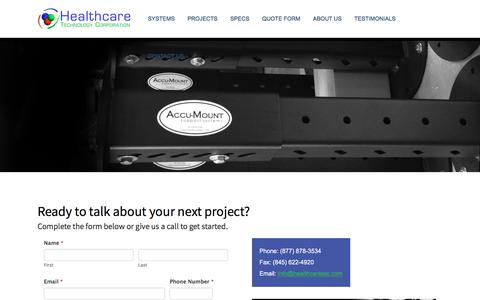 Screenshot of Contact Page healthcaretec.com - Contact Us | Healthcare Technology Corporation - captured July 23, 2019