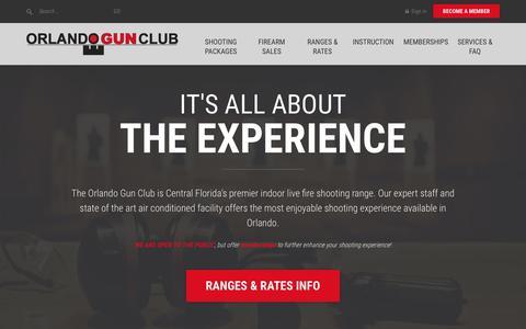 Screenshot of Home Page orlandogunclub.com - Orlando Gun Club   Central Florida's premier firing range - captured Feb. 28, 2016