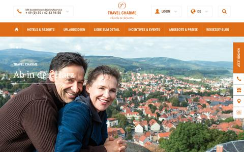 Screenshot of Home Page travelcharme.com - Start Travel Charme Hotels Berlin - captured June 30, 2017
