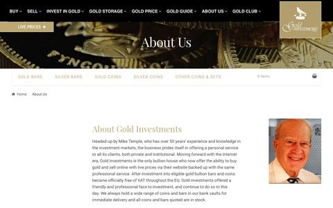Screenshot of About Page goldinvestments.co.uk - About Gold Investments - Oldest Bullion House in the UK - captured Sept. 29, 2018