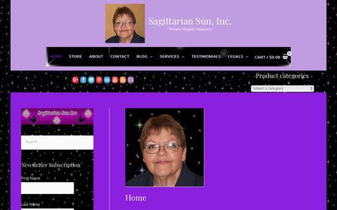 Screenshot of Home Page sagsun.com - Home - Sagittarian Sun, Inc. - captured Oct. 1, 2018