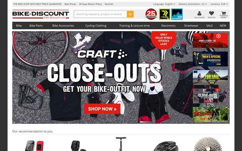 Screenshot of Home Page bike-discount.de - Bike Shop | Bike-Discount: Shop with Best Price Guarantee - captured Aug. 20, 2016