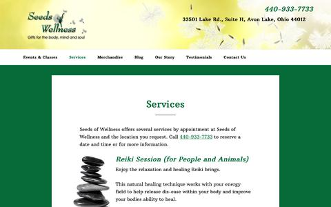 Screenshot of Services Page seedsofwellnessllc.com - Services - Seeds of Wellness, LLC - captured Dec. 8, 2018
