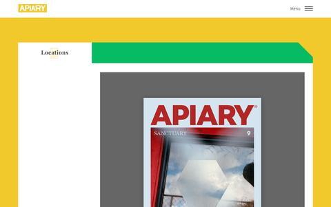 Screenshot of Locations Page apiarymagazine.com - Apiary Magazine – Locations - captured Nov. 6, 2018