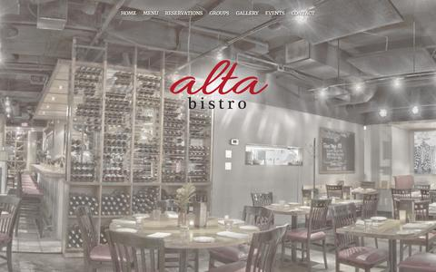 Screenshot of Home Page altabistro.com - Alta Bistro - captured July 25, 2016