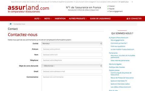 Donnez votre avis sur assurland.com, contactez-nous !
