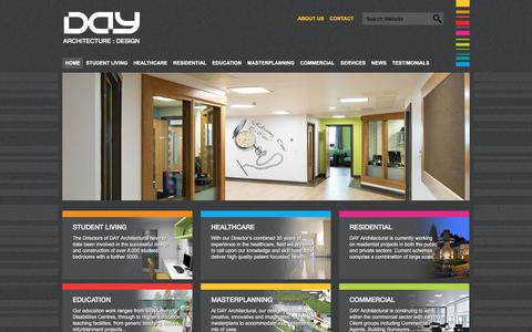 Screenshot of Home Page day-architectural.com - DAY Architectural LTD - captured Feb. 8, 2016