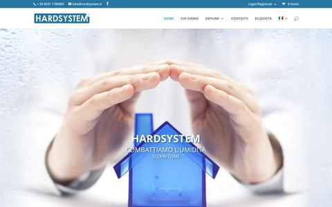 Screenshot of Home Page hardsystem.it - Dehumi contro l'umidità - captured July 7, 2017