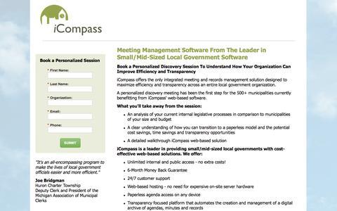 Screenshot of Landing Page icompasstech.com - Contact Us | iCompass Technologies - captured July 27, 2016
