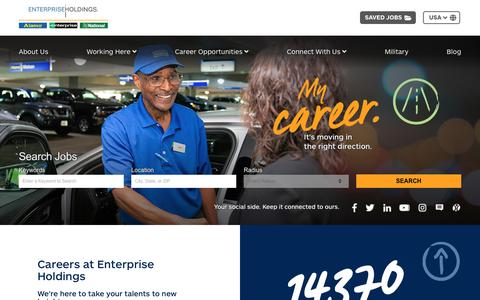 Screenshot of Jobs Page enterprise.com - Home | Jobs and Careers at Enterprise - captured Oct. 30, 2018