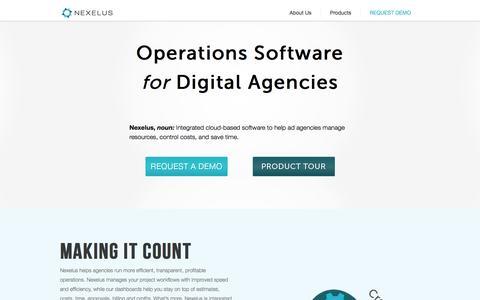 Screenshot of Home Page nexelus.net - Nexelus - captured Sept. 30, 2014