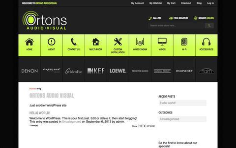 Screenshot of Blog ortonsaudiovisual.com - Ortons Audio Visual - captured Oct. 9, 2014