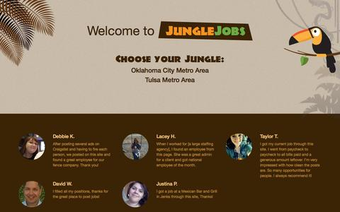 Screenshot of Home Page junglejobs.com - Welcome to JungleJobs! - captured Sept. 23, 2014