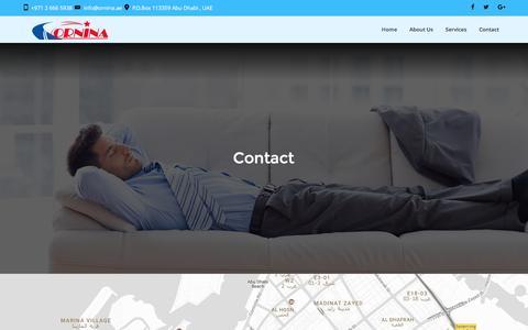 Screenshot of Contact Page ornina.ae - Contact – Ornina - captured Dec. 21, 2016